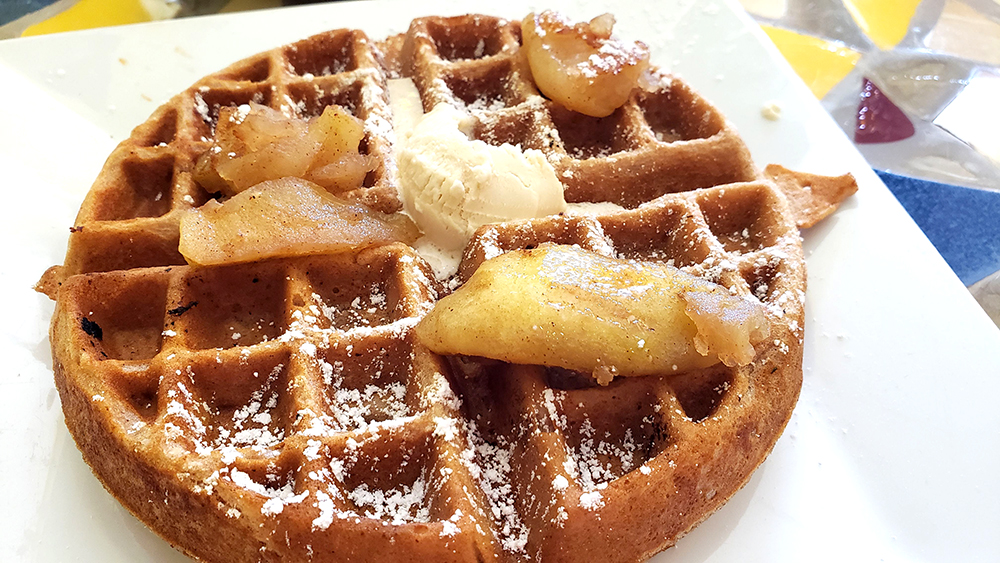 Apple Cinnamon Waffle at Batter & Berries