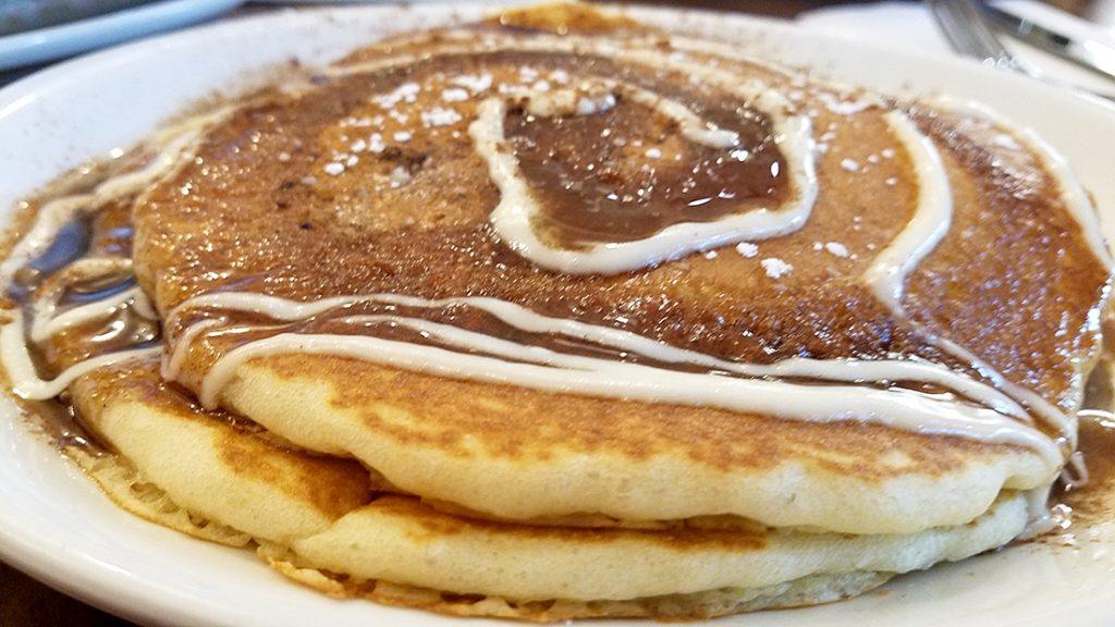 Wildberry Pancakes - Cinnamon Roll Pancakes